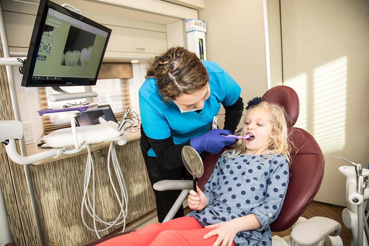 Dental Van Patient Photo